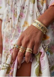 ANNA BECK Dreamy Dusk Grey Quartz Faux Stacking Ring - Gold