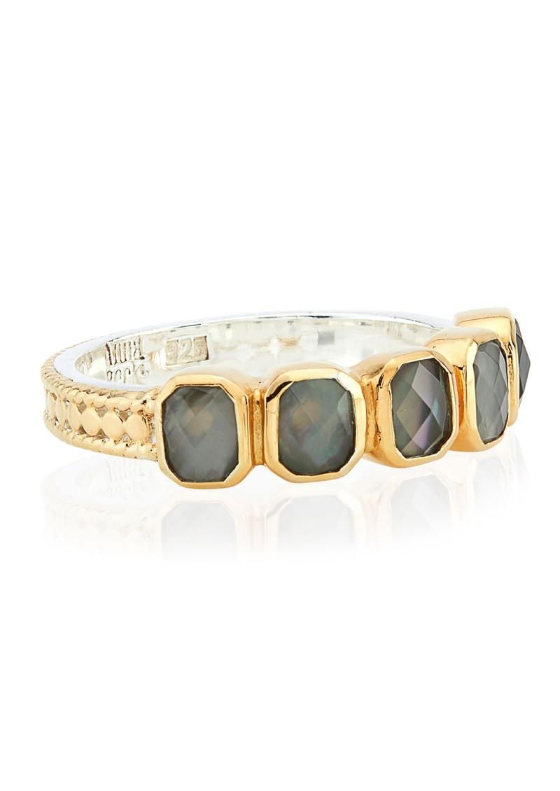 ANNA BECK Dreamy Dusk Grey Quartz Multi Stone Ring - Gold main image