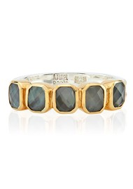 ANNA BECK Dreamy Dusk Grey Quartz Multi Stone Ring - Gold