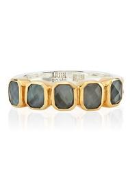 ANNA BECK Dreamy Dusk Grey Quartz Multi Stone Ring - Gold