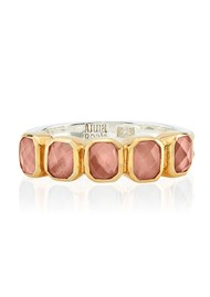 ANNA BECK Dreamy Dusk Rose Quartz Multi Stone Ring - Gold