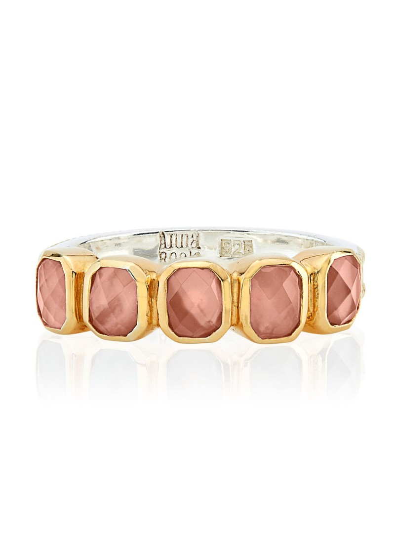 ANNA BECK Dreamy Dusk Rose Quartz Multi Stone Ring - Gold main image
