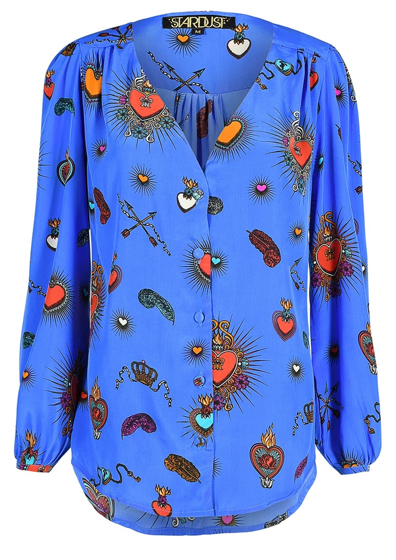 STARDUST Betty Heart Blouse - Blue main image