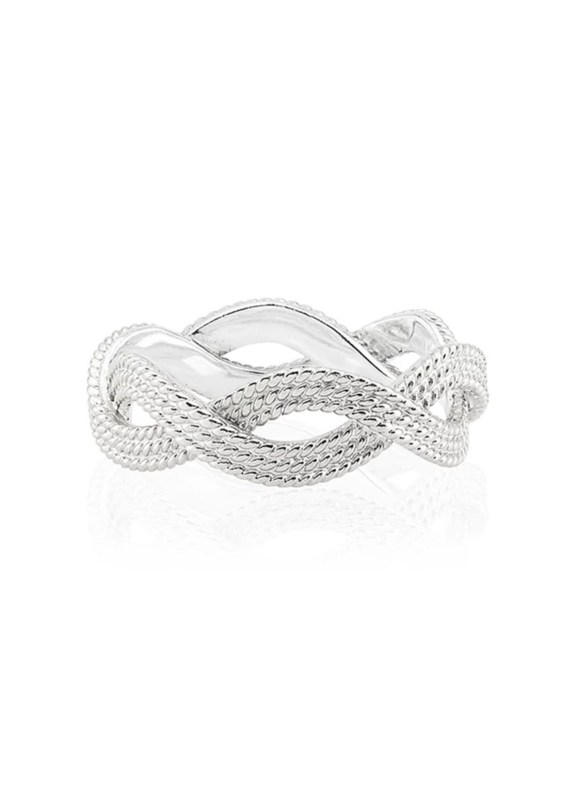 ANNA BECK Braided Stacking Ring - Silver main image