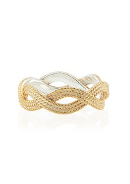 ANNA BECK Braided Stacking Ring - Gold