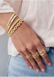 ANNA BECK Braided Stacking Cuff - Gold