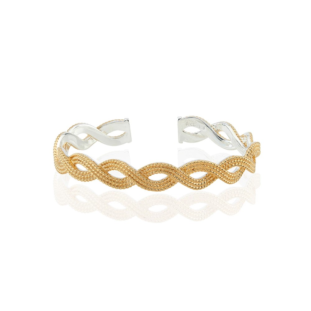 Braided Stacking Cuff - Gold