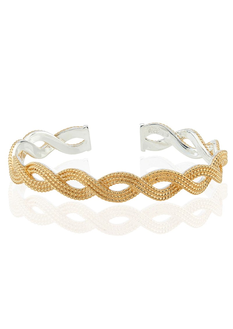 Braided Stacking Cuff - Gold main image