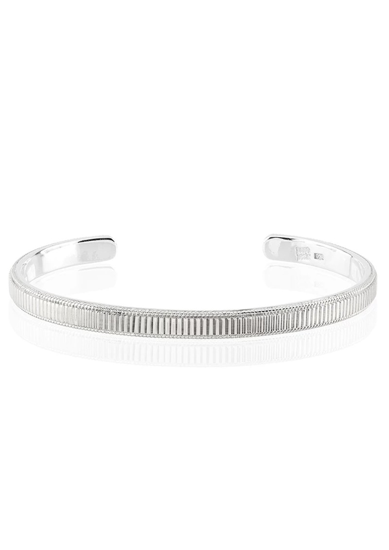 ANNA BECK Ribbed Stacking Cuff - Silver main image