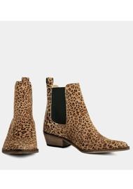 IVYLEE Stella Animal Printed Suede Boot - Beige