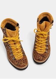 IVYLEE Mountain Animal Print Hiking Boot - Brown & Mustard