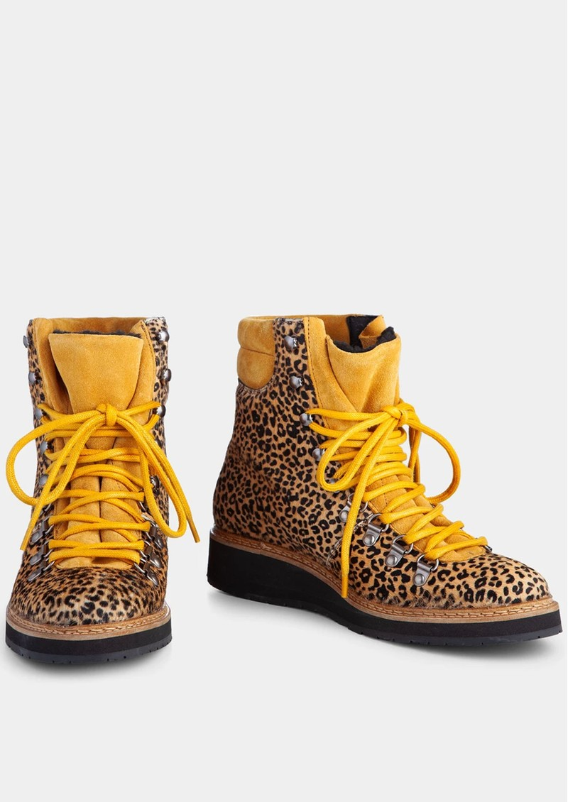 IVYLEE Mountain Animal Print Hiking Boot - Brown & Mustard main image