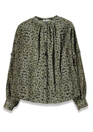 ESSENTIEL ANTWERP Tubin Python Blouse - Hunter