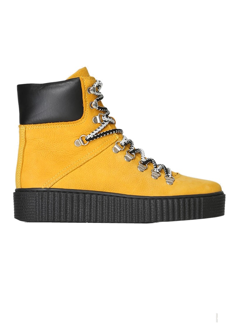 SHOE THE BEAR Agda Nubuck Lace Up Boot - Yellow main image