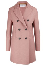 HARRIS WHARF Double Breasted Wool Coat - Old Rose