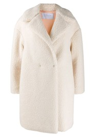 HARRIS WHARF Dropped Shoulder Coat - Off White