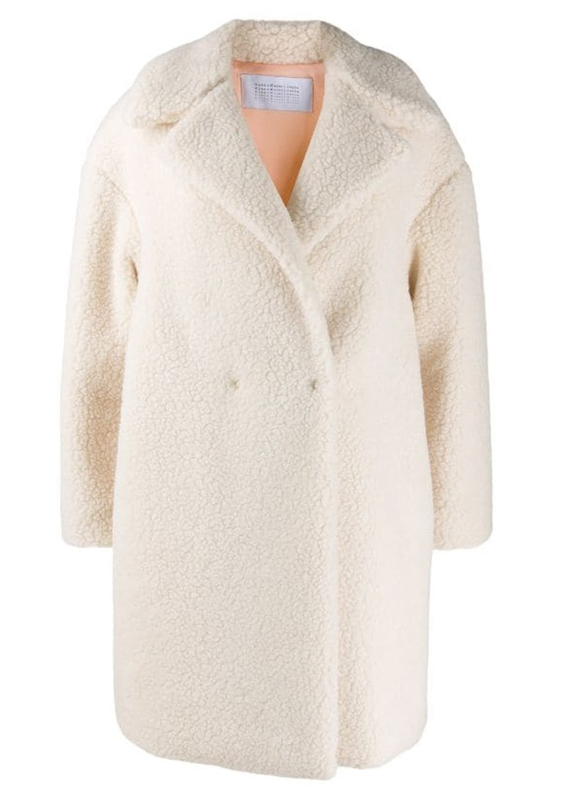 HARRIS WHARF Dropped Shoulder Coat - Off White main image