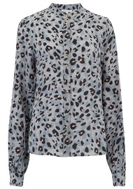 Lily and Lionel Exclusive Maddox Silk Shirt - Grey Animal