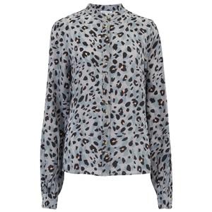 Exclusive Maddox Silk Shirt - Grey Animal