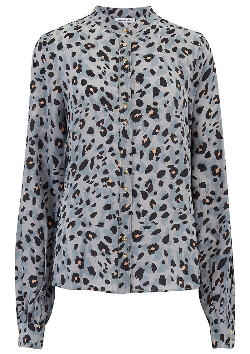 Lily and Lionel Exclusive Maddox Silk Shirt - Grey Animal main image