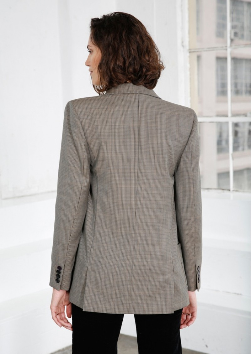 MAYLA Charlie Blazer- Brown Check main image