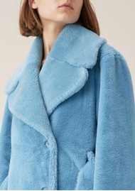 STINE GOYA Happy Faux Fur Jacket - Teal