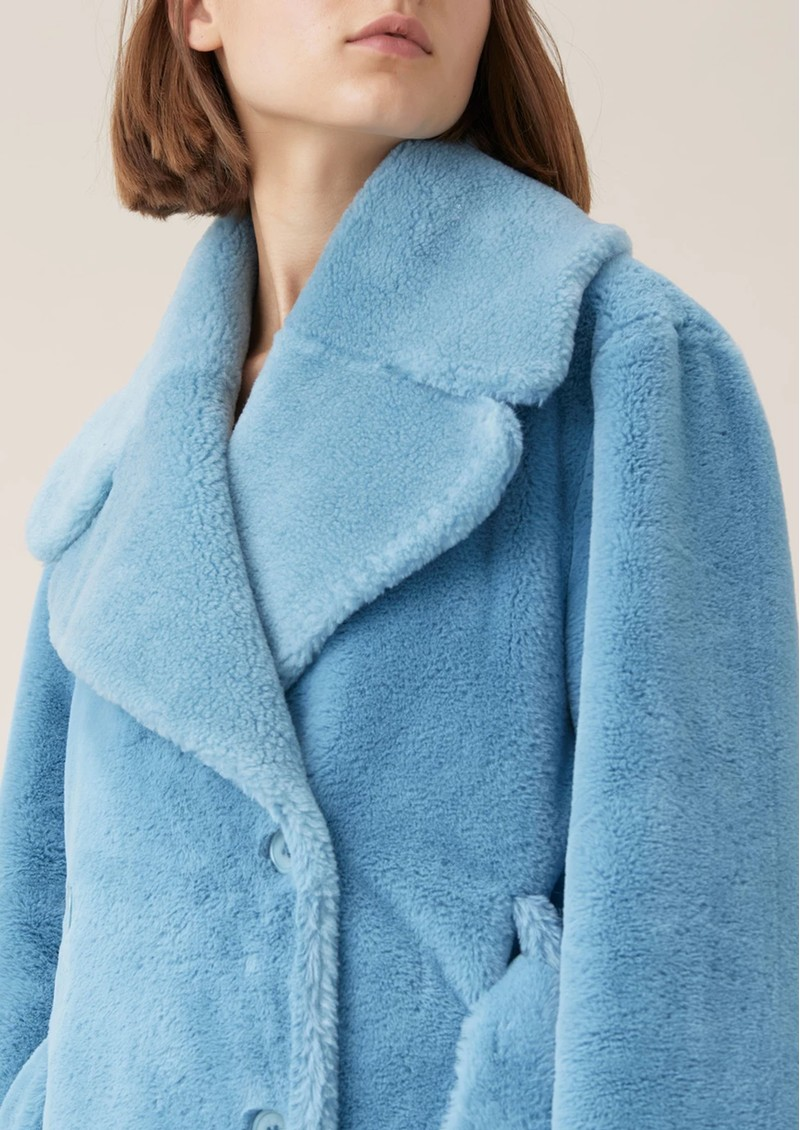 Happy Faux Fur Jacket - Teal main image