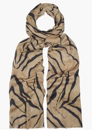 Lily and Lionel Tiger Scarf - Natural