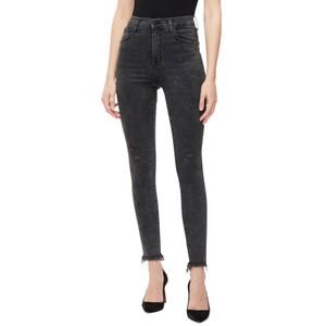 Leenah Super High Rise Ankle Skinny Jeans - After Hours Destruct