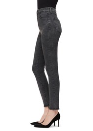 J Brand Leenah Super High Rise Ankle Skinny Jeans - After Hours Destruct
