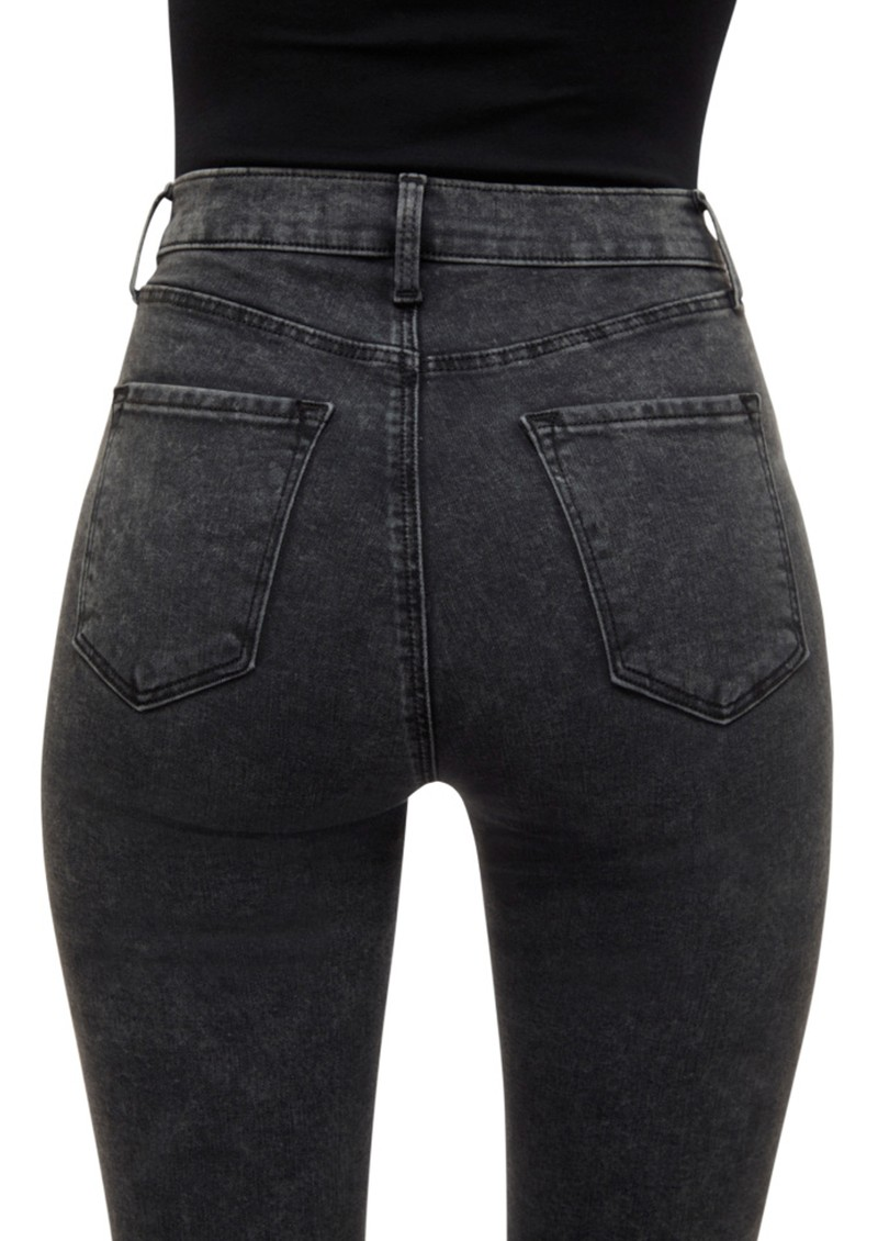 J Brand Leenah Super High Rise Ankle Skinny Jeans - After Hours Destruct main image
