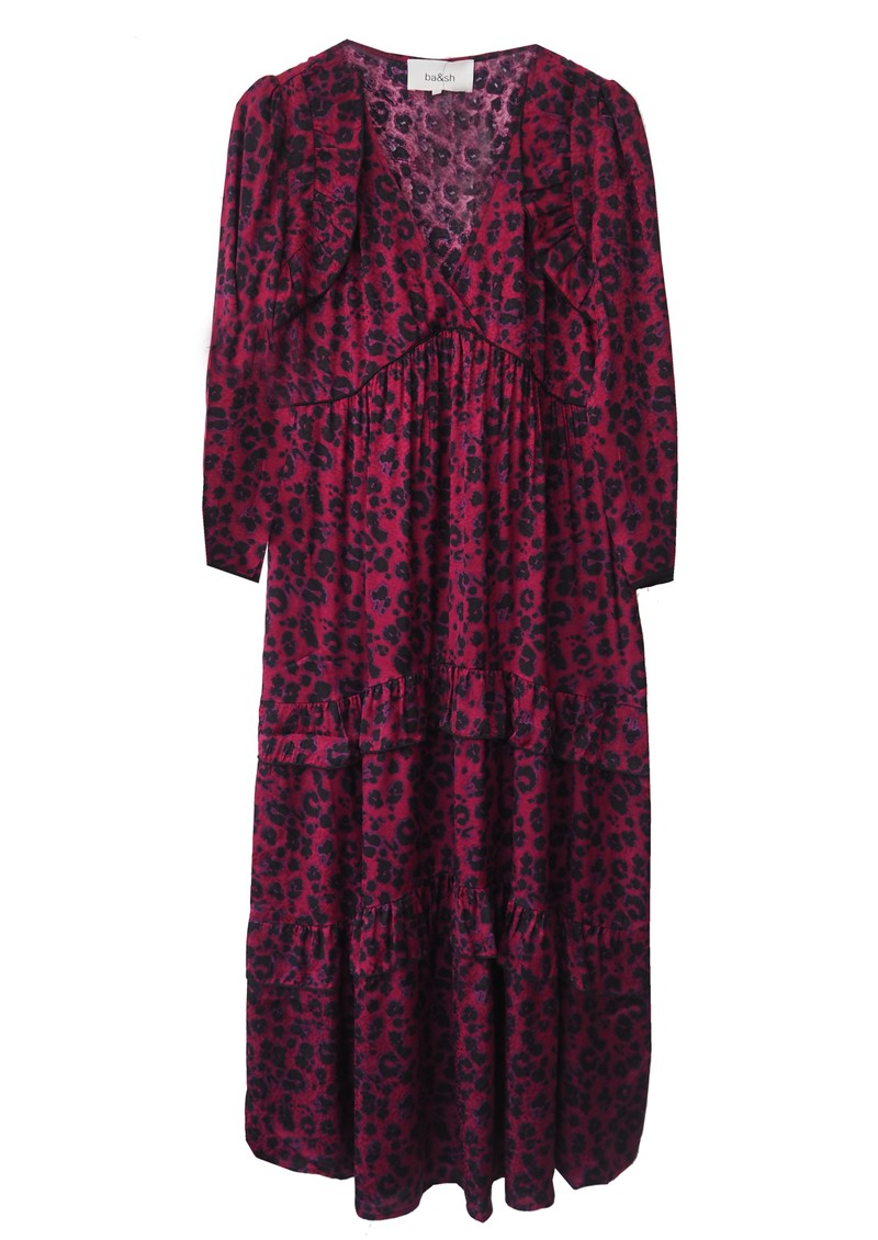 Ba&sh Tracey Printed Dress - Red Grenat main image
