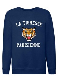 ON THE RISE Amelia La Tigresse Parisienne Sweater - Navy