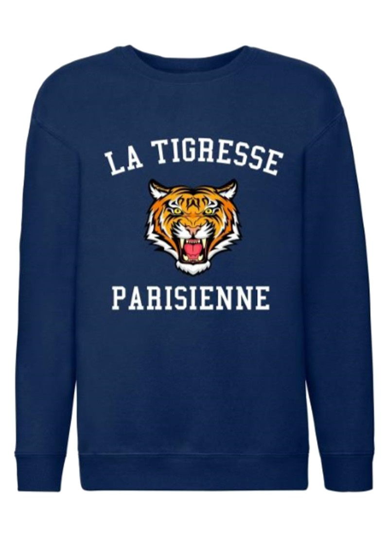 ON THE RISE Amelia La Tigresse Parisienne Sweater - Navy  main image