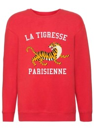 ON THE RISE Bella La Tigresse Parisienne Sweater - Red