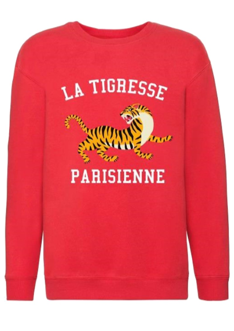 ON THE RISE Bella La Tigresse Parisienne Sweater - Red main image