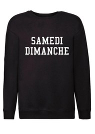 ON THE RISE Lucy Samedi Dimanche Sweater - Black