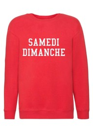 ON THE RISE Lucy Samedi Dimanche Sweater - Red