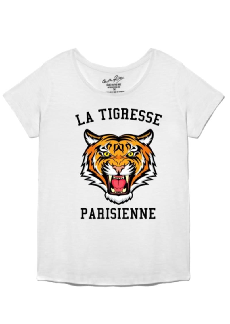 ON THE RISE Amelia La Tigresse Parisienne Tee - White main image