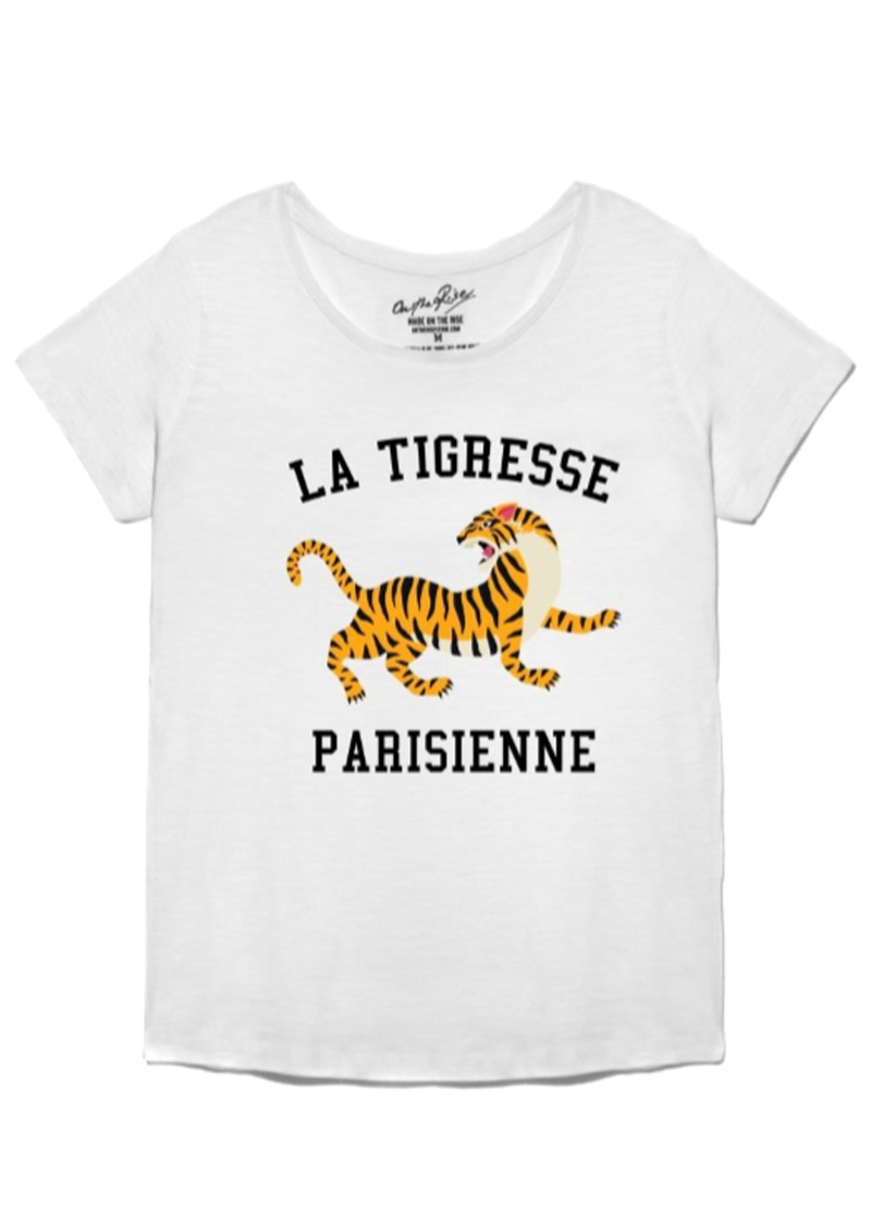 ON THE RISE Bella La Tigresse Parisienne Tee - White main image