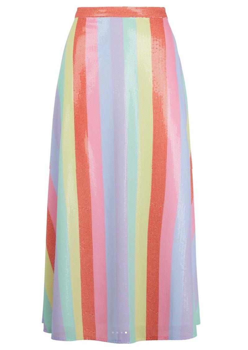 OLIVIA RUBIN Penelope Sequin Skirt - Fall Stripe main image