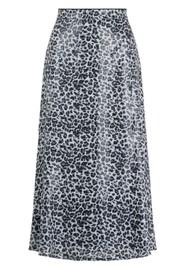 OLIVIA RUBIN Jeanie Sequin Skirt - Mono Leopard