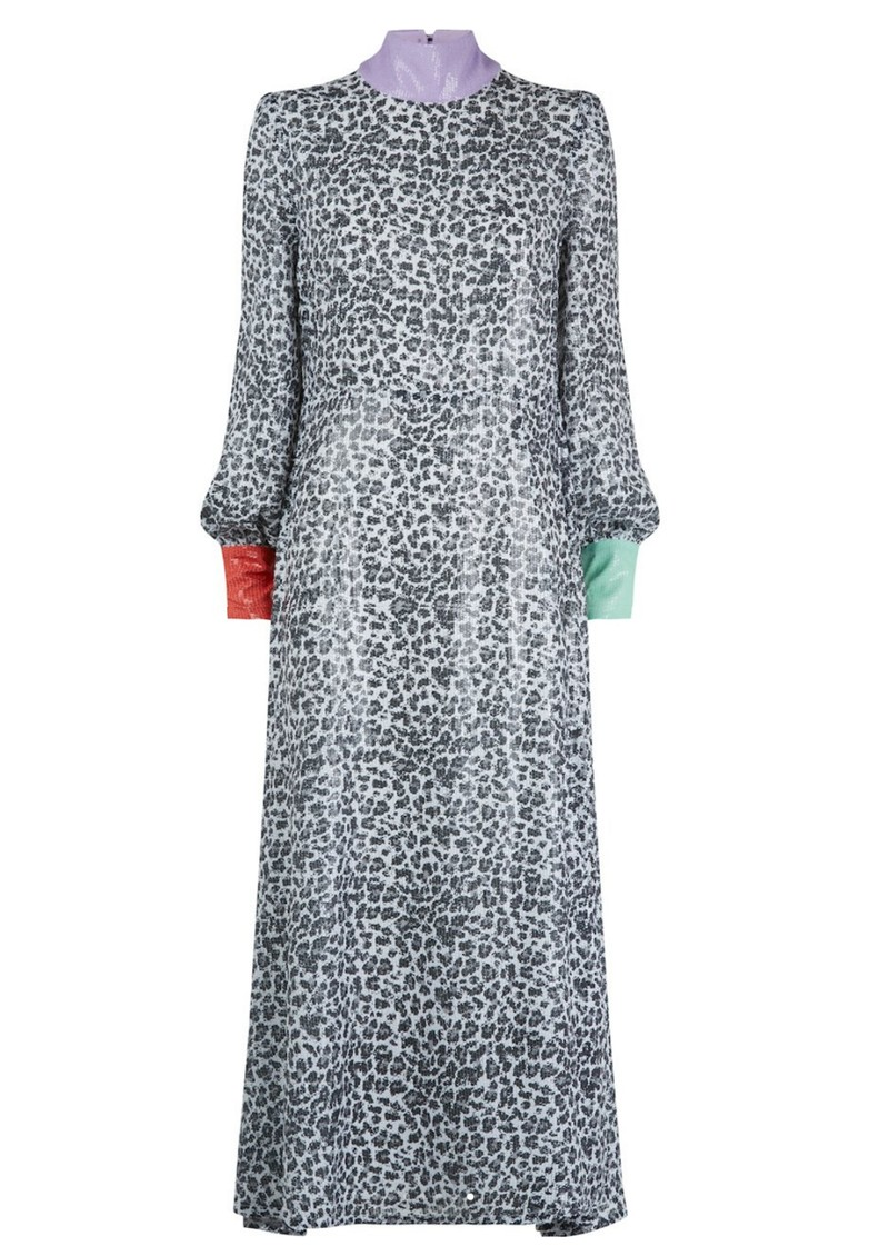 OLIVIA RUBIN Amelie Sequin Dress - Mono Leopard main image