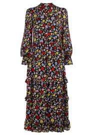 OLIVIA RUBIN Florence Silk Dress - Floral