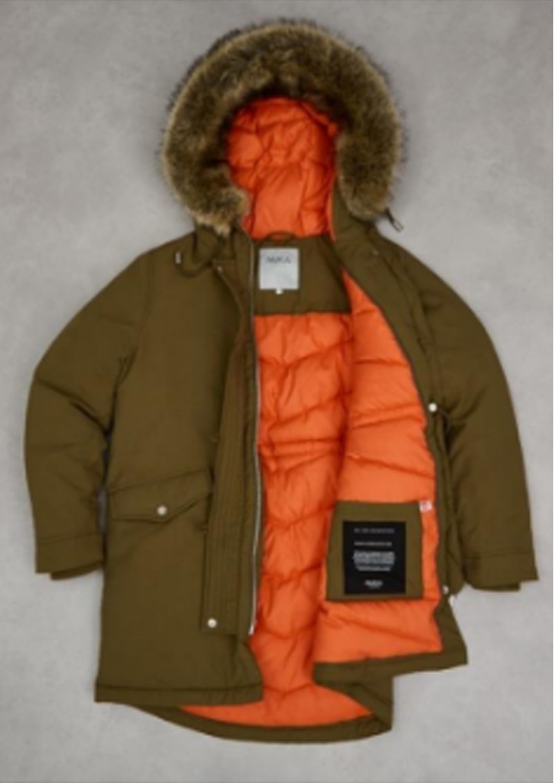Stormont Faux Fur Hood Parka - Military Green main image
