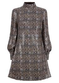 OLIVIA RUBIN Melissa Sequin Dress - Leopard