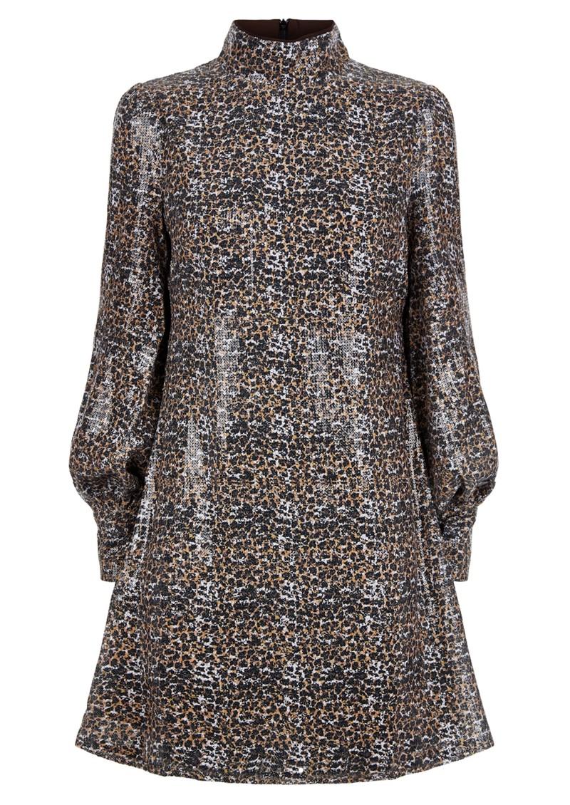 OLIVIA RUBIN Melissa Sequin Dress - Leopard main image