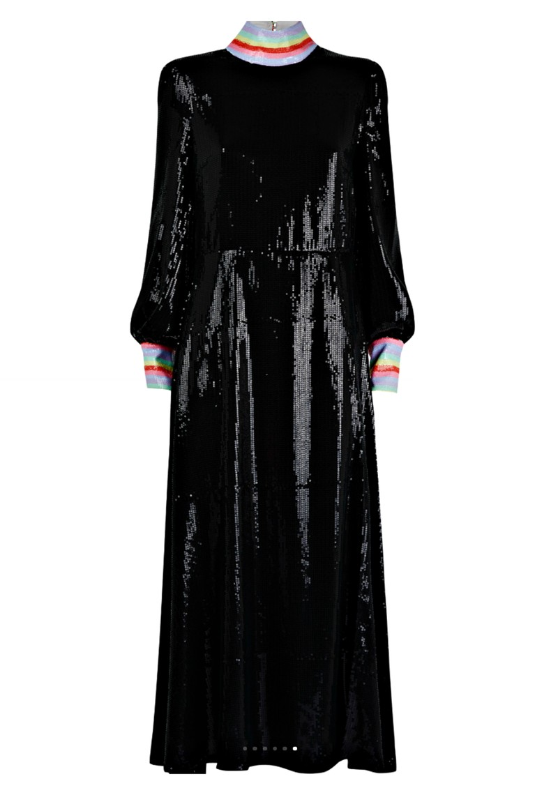 OLIVIA RUBIN Amelie Sequin Dress - Black main image