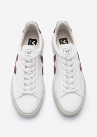 VEJA Campo Leather Trainers - White Marsala