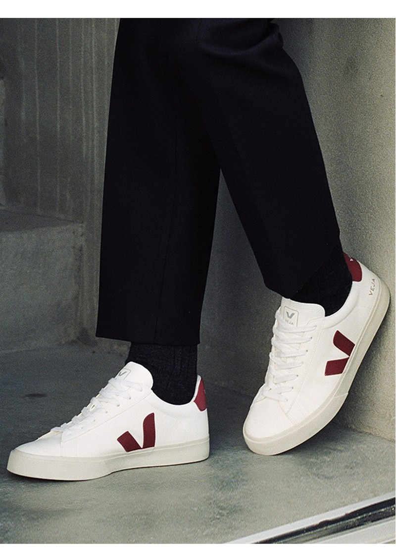 VEJA Campo Leather Trainers - White Marsala main image